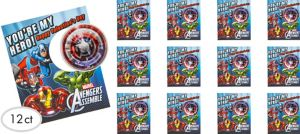 Avengers Valentine Exchange Cards with Maze Puzzles 12ct