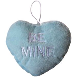 Blue Be Mine Plush Conversation Heart
