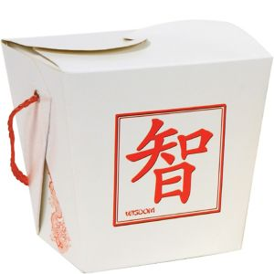 White Chinese Take-Out Style Favor Box