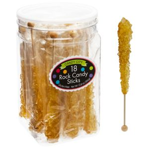 Gold Rock Candy Sticks 18pc