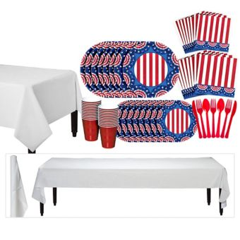 American Pride Patriotic Basic Party Kit for 100 Guests