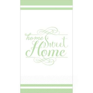 Spring Green Sweet Home Premium Guest Towels 16ct