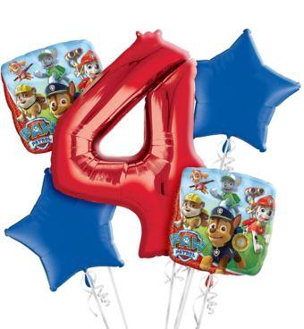 PAW Patrol 4th Birthday Balloon Bouquet 5pc