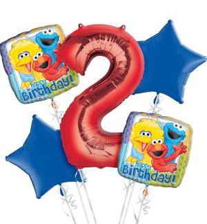 Sesame Street 2nd Birthday Balloon Bouquet 5pc