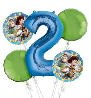 Toy Story 2nd Birthday Balloon Bouquet 5pc