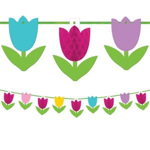 Tulip Honeycomb Garland