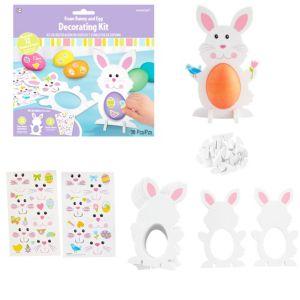 Foam Easter Bunny & Egg Decorating Kit for 12