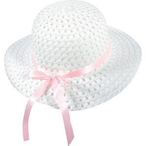 Child White Woven Easter Bonnet