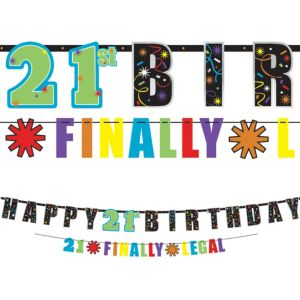 Brilliant 21st Birthday Banners 2ct
