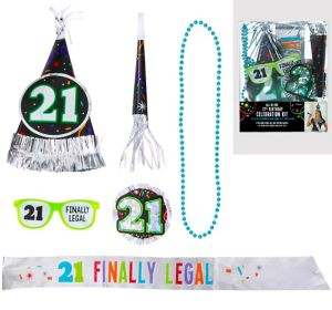 21st Birthday Accessory Kit 6pc