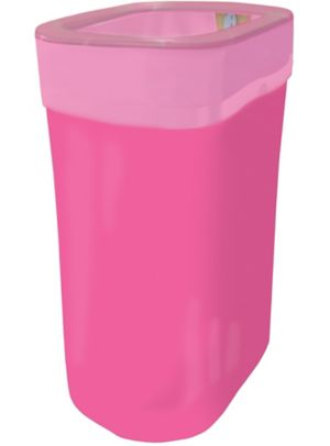 Bright Pink Pop-Up Trash Bin