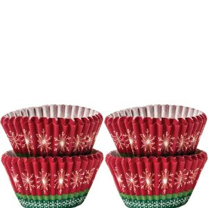 Christmas Snowflake Mini Baking Cups 100ct