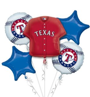 Texas Rangers Balloon Bouquet 5pc - Jersey