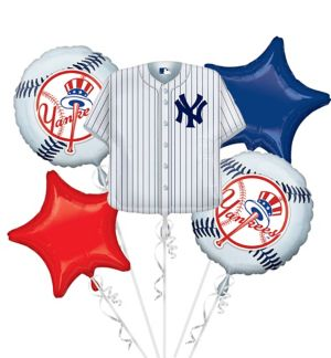 New York Yankees Balloon Bouquet 5pc - Jersey