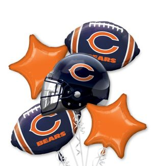 Chicago Bears Football Balloon Bouquet 5pc Party City