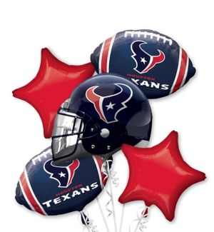 Houston Texans Balloon Bouquet 5pc