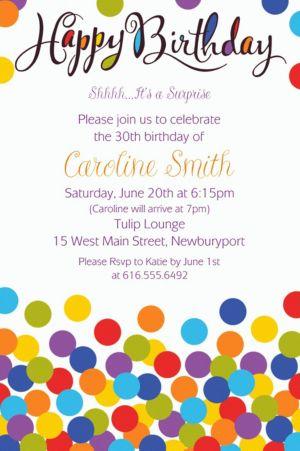 Custom Confetti Bash Invitation