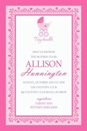 Custom Celebrate Baby Girl Invitation
