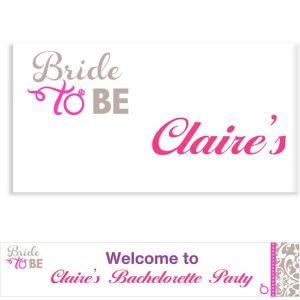 Custom Classic Bride Banner