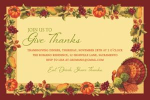 Custom Joyful Thanksgiving Invitation