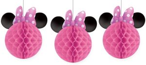 Minnie Mouse Honeycomb Balls 3ct