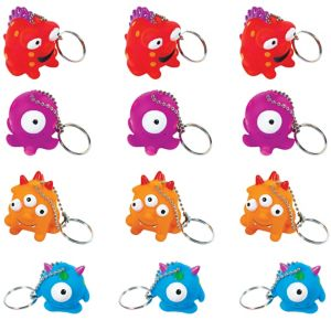 Monster Keychains 12ct
