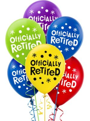 Happy Retirement Celebration Balloons 15ct