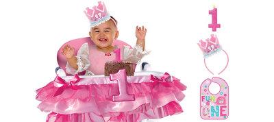 Wild at One Girl 1st Birthday Smash Cake Kit