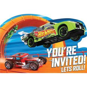 Hot Wheels Invitations 8ct