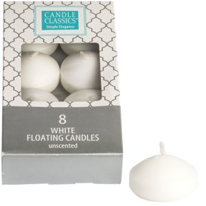 White Floating Candles 8ct