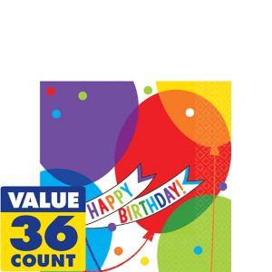 Balloon Bash Birthday Beverage Napkins 36ct
