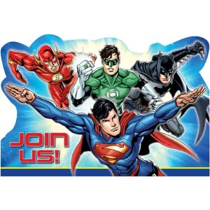 Justice League Invitations 8ct