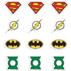 Justice League Erasers 12ct