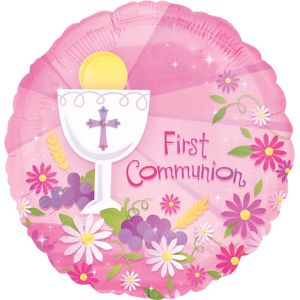 Girl's First Communion Balloon