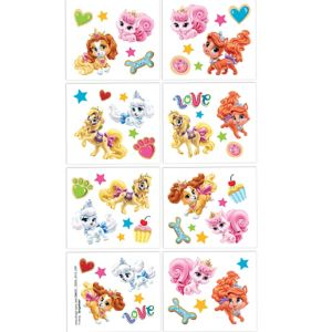 Disney Princess Palace Pets Tattoos 1 Sheet