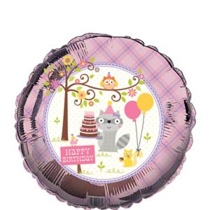 Girl Birthday Balloon - Happi Woodland