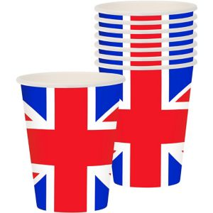 Union Jack Cups 8ct - Great Britain