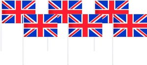 Union Jack Flags 6ct - Great Britain