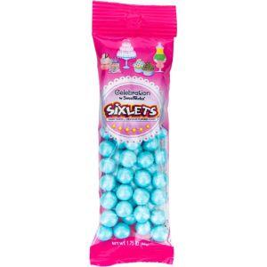 Pastel Blue Shimmer Sixlets 56pc