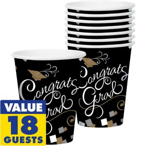 Congrats Graduation Cups 18ct