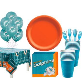 Miami Dolphins Super Party Kit for 18 Guests