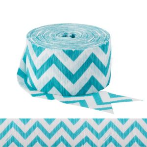 Caribbean Blue Chevron Streamer