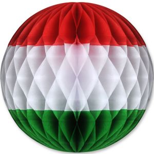 Red, White & Green Honeycomb Ball