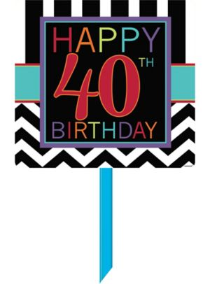 Celebrate 40th Birthday Yard Sign