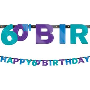 The Party Continues 60th Birthday Banner