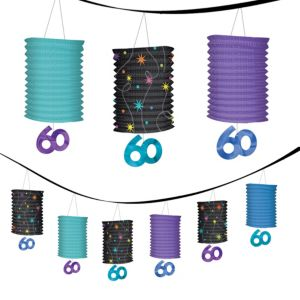 The Party Continues 60th Birthday Lantern Garland