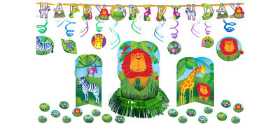 Jungle Animals Decoration Kit