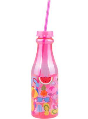 Pink Summer Plastic Soda Bottle