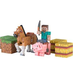 Saddle Pack Minecraft Playset 8pc