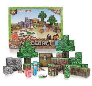 Overworld Deluxe Minecraft Papercraft Kit 93pc